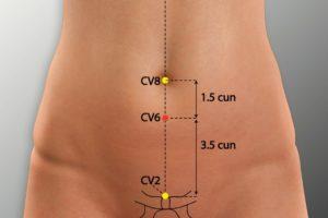 CV 6-Qihai acupoint